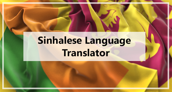 Sinhalese Language Translator